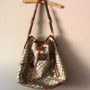 L.A.M.B. Drawstring handbag.